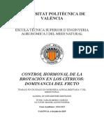 Control Hormonal de La Brotación en Los Cítricos_ Dominancia Del Fruto