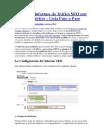Configura Informes de Tráfico SEO Con Google Analytics