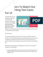 Top Factors to Watch Out While Writing Test Cases for UI _ LoginRadius Fuel