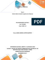 Paso 6 Informe Sobre La Gestión Logistica de La Empresa_William Gaitán UNAD JAG