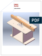 Plans of Router Table