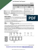 Bosch Dishwasher Multi-Model Test Programs