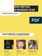 Roosevelt Island  Local Currency System Project