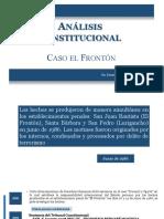 ANÁLISIS CONSTITUCIONAL CASO EL FRONTÓN, por el DR. ERNESTO ÁLVAREZ MIRANDA
