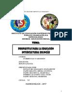Propuestas Para La Educacion Intercultural Bilingue Monografia Pedagogico