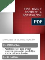 Tipo y Diseño de Investigacion