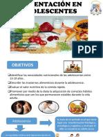 Alimentación en Aolescentes Obsterricia