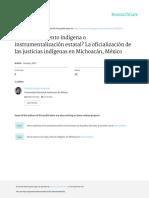 Las Justicias Indígenas en Michoacán