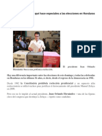 4 Claves Para Entender Qué Hace Especiales a Las Elecciones en Honduras