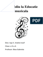 Portofoliu La Educatie Muzicala