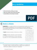 Diseños y modelos. Bases de datos