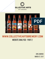 Website Analysis - Collective Arts Brewery - Part 2
