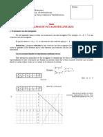 Sistemas de Ecuaiones Lineales Tercero Medio