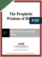 The Prophetic Wisdom of Hosea – Lesson 2 – Transcript