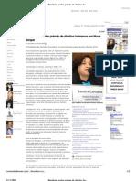 Brasileira recebe prêmio de direitos humanos em Nova Iorque