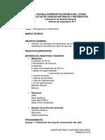 Informe de Práctica de Calorimetría Josué Llivipumma Paralelo 201
