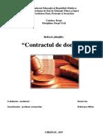 Contractul de  donatie (RM)