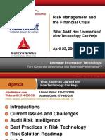 AuditNet Fulcrum April 23 Presentation - 042309