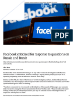 Facebook criticised for response to que...and Brexit   Technology   The Guardian