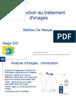 2009 Introduction Interpretation Et Traitement Images Satellitaires