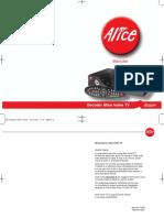 Manuale Installazione Decoder Alice Home TV (Pirelli)