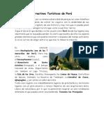 Atractivos Turísticos de Perú