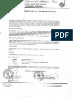 Resolucion Directoral de Tesis