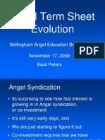 Angel Term Sheet Evolution 20091117