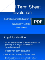 Angel Term Sheet Evolution 20091117