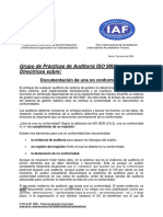 Documentación de Una No Conformidad ISO-IAF