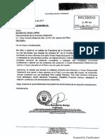 Carta de Odebrecht a comisión Lava Jato