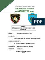 Tecnicas Del Interrogatorio Policial Monografia Pnp