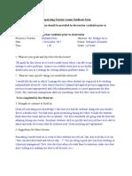 maed feedback form