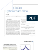 Pricing Basket Options With Skew