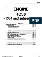 94+ 4D56 Diesel Engine Workshop Manual PWEE9067-ABCDEF 11B