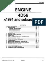 94+ 4D56 Diesel Engine Workshop Manual PWEE9067-ABCDEF 11B