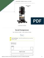 Copeland ZR125KC-TF5-950 Scroll Compressor _ Carrier HVAC