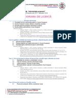 Programa de Licenta - Ae - Varianta Noua