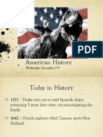 wed dec 13 american history