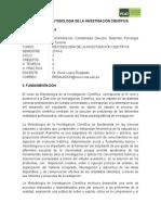 Silabo de Metodología de La Investigación Científica 2013-2