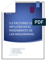 3.3 Factores Que Influyten en El Rendimiento de Las Máquinas.