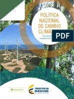 POLÍTICA NACIONAL DE CAMBIO CLIMÁTICO