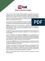 Nota de Prensa Editorial TalCual