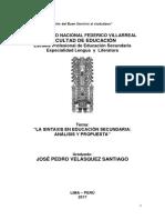 Tesis (La Sintaxis en Educacion Secundaria Analisis y Propuestas)
