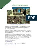 Tiahuanaco Tiwanaku en Espac3b1ol