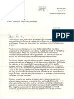 Letter from the Minister for Disabled People to the Work and Pensions Committee