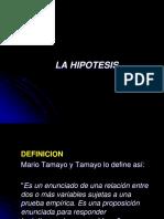Hipótesis Variables Operacionalización