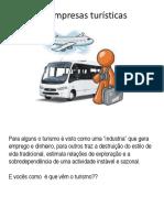 As Empresas Turísticas
