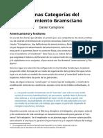 Algunas Categorías del Pensamiento Gramsciano - Daniel Campione
