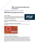 100 TOP OBIEE Scenario Based Interview Questions and Answers